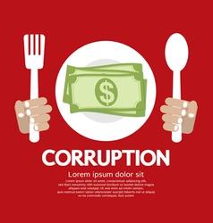 Corruption EPS10 vector image vector image