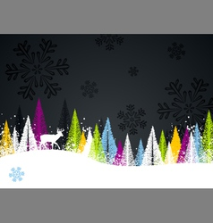 dark winter background vector image