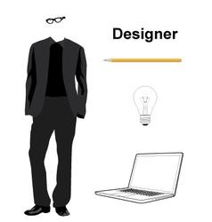 Designer vector image