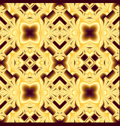 elegant seamless pattern of stained glass or vector image vector image