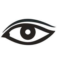 Eye Icon black vector image