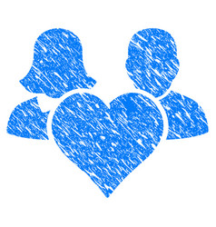 family love heart grunge icon vector image vector image