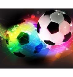 Football abstract background vector image