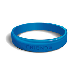 Friends - blue plastic wristband vector