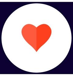 Heart computer symbol vector image vector image