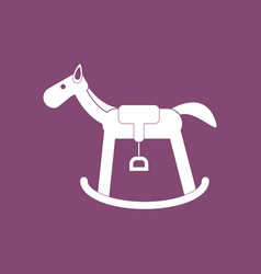 Icon on background kids rocking horse vector