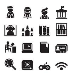 library icon symbol set vector image vector image