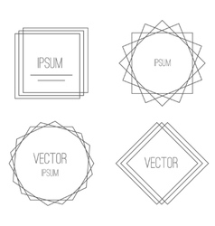 Mono line frames elegant design elements badges vector image vector image