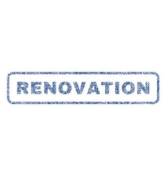 renovation textile stamp vector image vector image