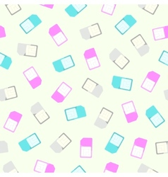 Sim card seamless pattern and background flat vector