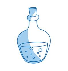 Spa glass bottle oil aromatherapy massage vector