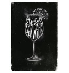 Spritz cocktail chalk vector