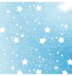 Starry sky on blue background vector