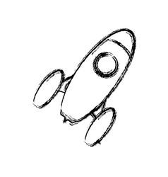 Start up spaceship concept vector