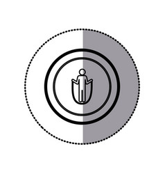 sticker of monochrome pictogram with training in vector image vector image