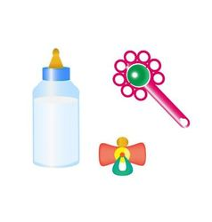 Things for the baby vector image