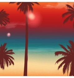 Travel Backgrounds with Palm Trees Exotic vector image vector image