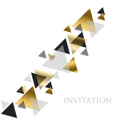 triangle geometry abstract for header invitation vector image vector image