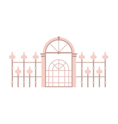 victorian fence and gates icon vector image vector image
