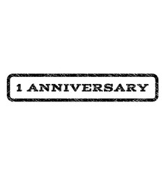 1 anniversary watermark stamp vector image vector image
