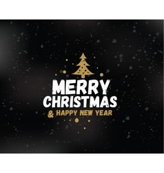 Merry christmas typographic emblems set vector