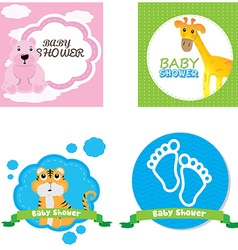 Baby shower vector image
