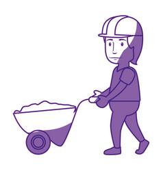 worker man cartoon vector image