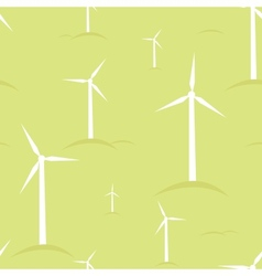 Ecological modern windmills seamless pattern vector image