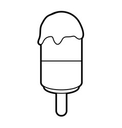 sketch silhouette image ice cream lollipops on vector image