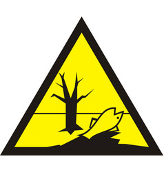 Sign of poisonous in yellow triangle harmful vector