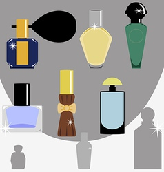 Bottle perfume vector