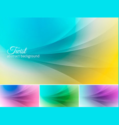 twist abstract background vector image