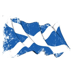 Scotland flag grunge vector