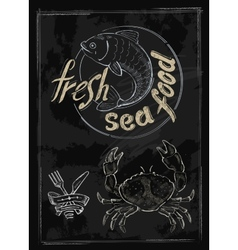 Fresh sea food vector