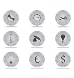 Buttons office vector
