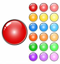 3d web glossy colored buttons vector