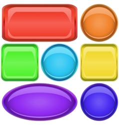 buttons set vector image
