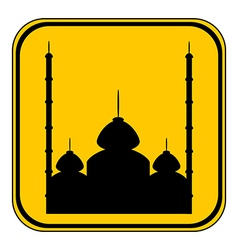 Mosque button vector