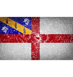 Flags herm with broken glass texture vector