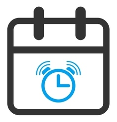 Alarm day icon vector
