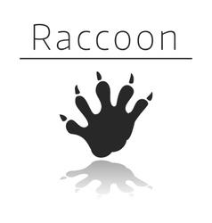 Raccoon animal track vector image