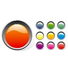 Shiny plastic buttons set vector