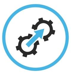 Gear integration flat icon vector