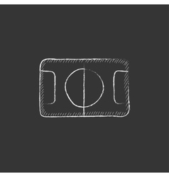 Stadium layout drawn in chalk icon vector