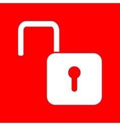 Unlock sign vector