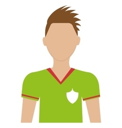 Avatar man soccer player graphic vector