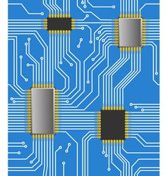 Seamless computer chipset background vector image