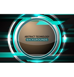 Abstract circle tech light background vector
