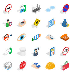 assist icons set isometric style vector image
