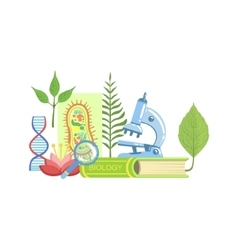 Biology class set of objects vector